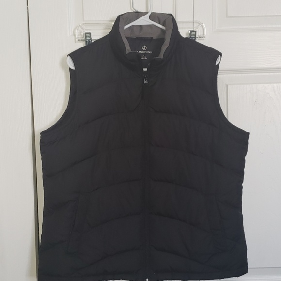 Lands' End Jackets & Blazers - Black Land's End Down Vest